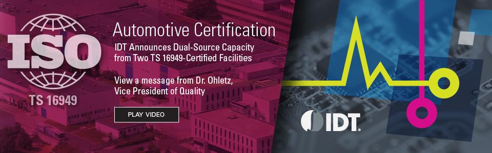TS16949 Automotive Certification